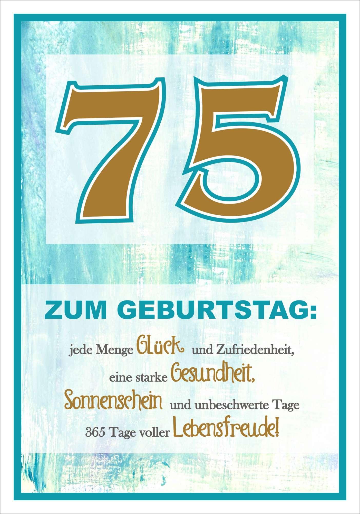 Karte 75 Geburtstag