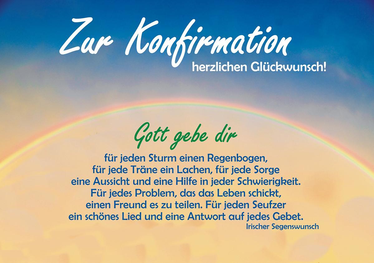 Spruch Konfirmation Karte.Regenbogen